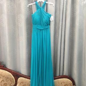 Alfred Sung Halter Grecian Bridesmaid Dress